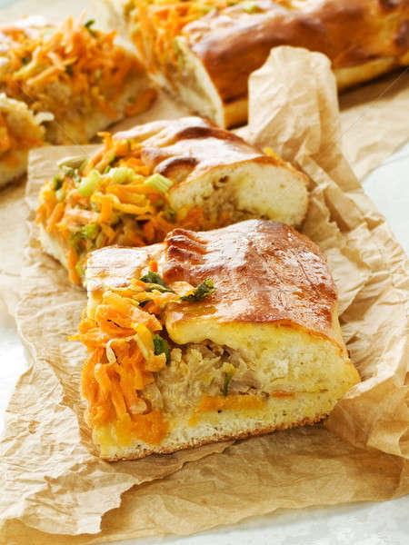 Repolho torta tradicional caseiro raso Foto stock © AGfoto