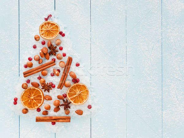 Christmas tree background Stock photo © AGfoto