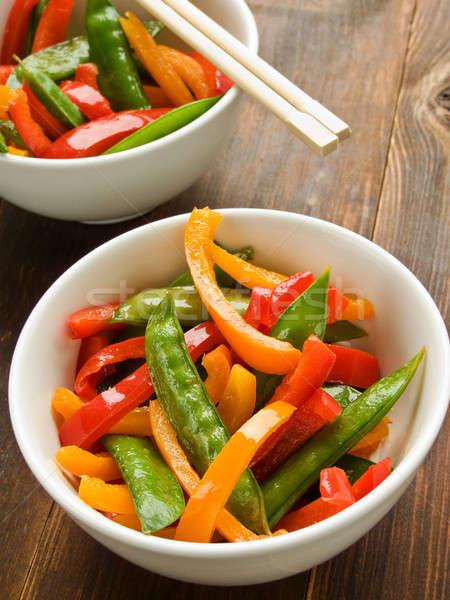 Vegetables stir-fry Stock photo © AGfoto