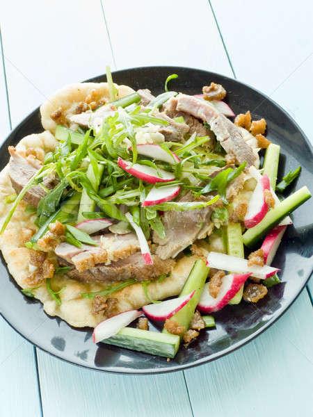 Eend filet kruiden saus ondiep Stockfoto © AGfoto