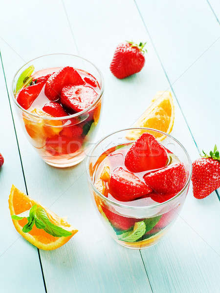 Strawberry orange compote Stock photo © AGfoto