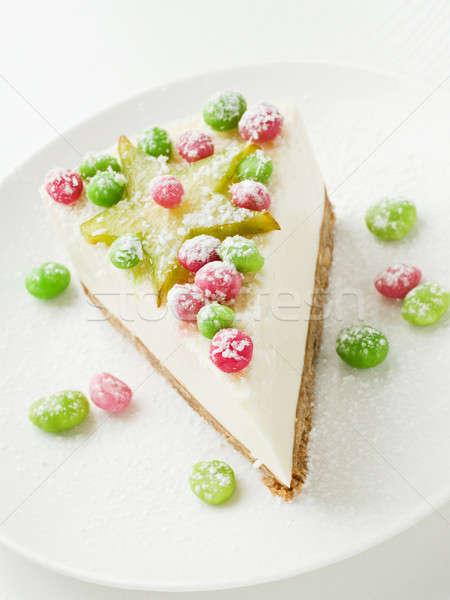 Panna acida cheesecake poco profondo dessert Foto d'archivio © AGfoto