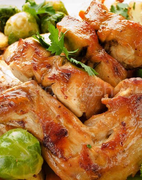 Cena piatto coniglio vegetali guarnire Foto d'archivio © AGfoto