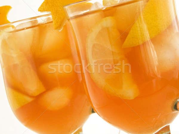 Buzlu çay gözlük taze limon sığ Stok fotoğraf © AGfoto