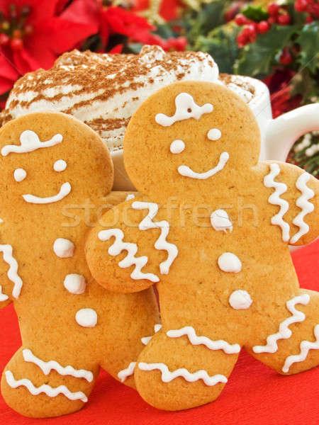 Сток-фото: Колобок · домашний · Cookies · Кубок · шоколадом · взбитые · сливки