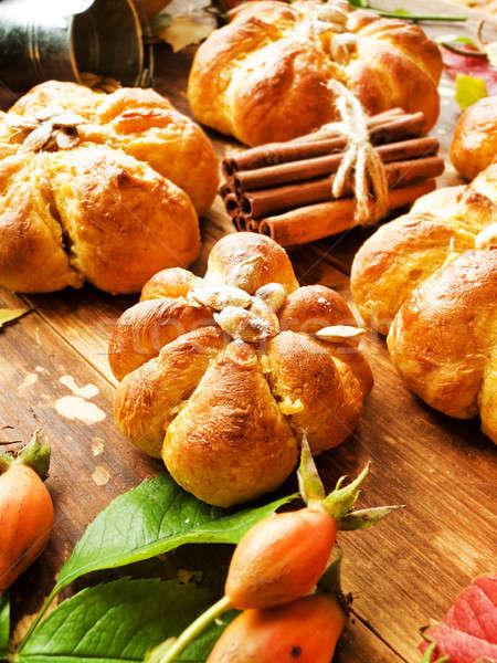 Fresh pumpkin buns Stock photo © AGfoto