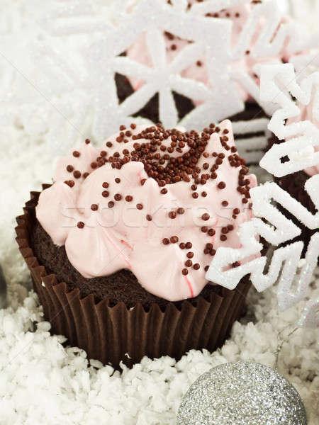 çikolata krem şanti sığ tatlı Stok fotoğraf © AGfoto