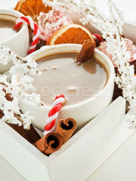Christmas snacks Stock photo © AGfoto