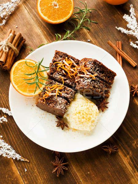 Christmas brownies Stock photo © AGfoto