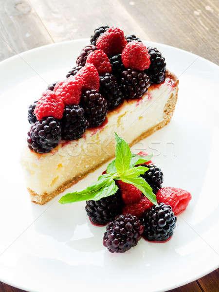 Fresh baked cheesecake Stock photo © AGfoto