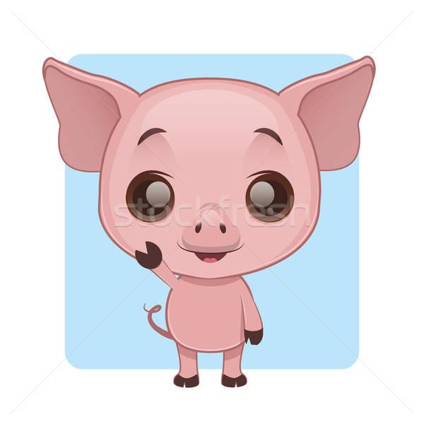 Cute Schwein Baby Natur Hintergrund Stock foto © AgnesSz