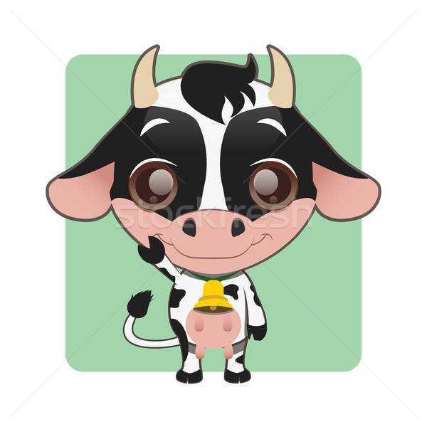 Cute cow with a bell Stock photo © AgnesSz