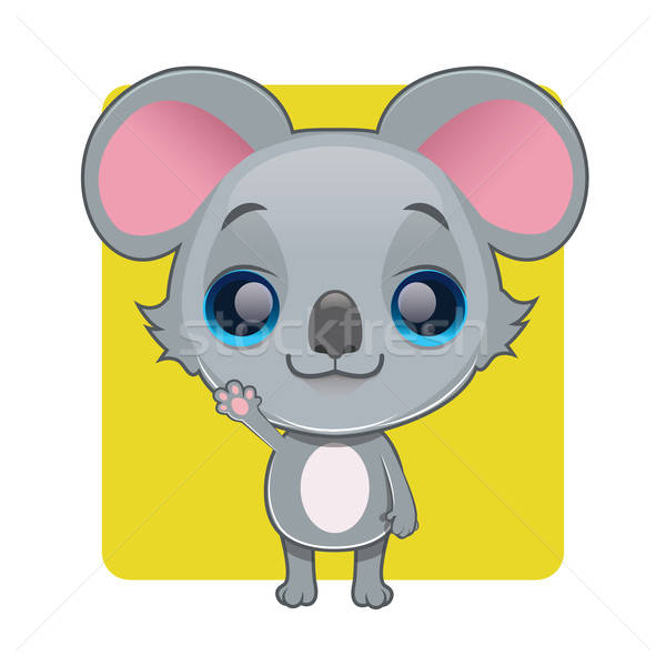Cute koala mascot waving pose Stock photo © AgnesSz