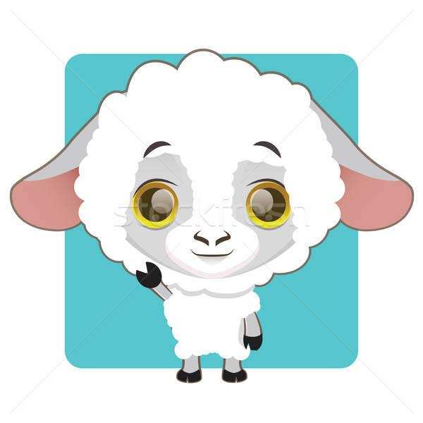 Cute Schafe Design Hintergrund Kunst Stock foto © AgnesSz