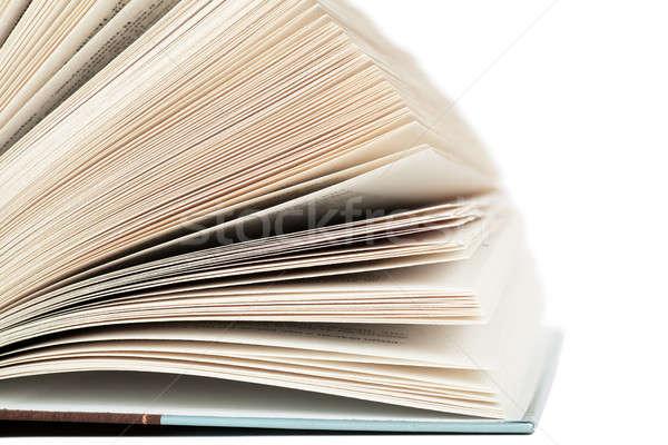 Livre ouvert isolé blanche papier fond Photo stock © AGorohov