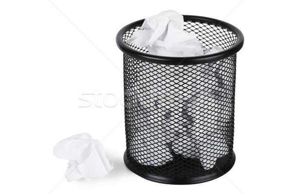 мусорное ведро бумаги изолированный белый бизнеса фон Сток-фото © AGorohov