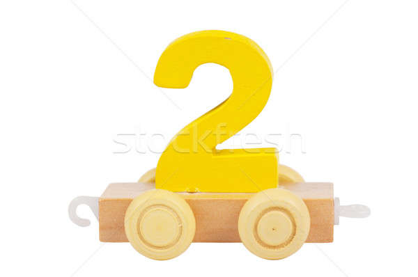 Wooden toy number 2 Stock photo © AGorohov