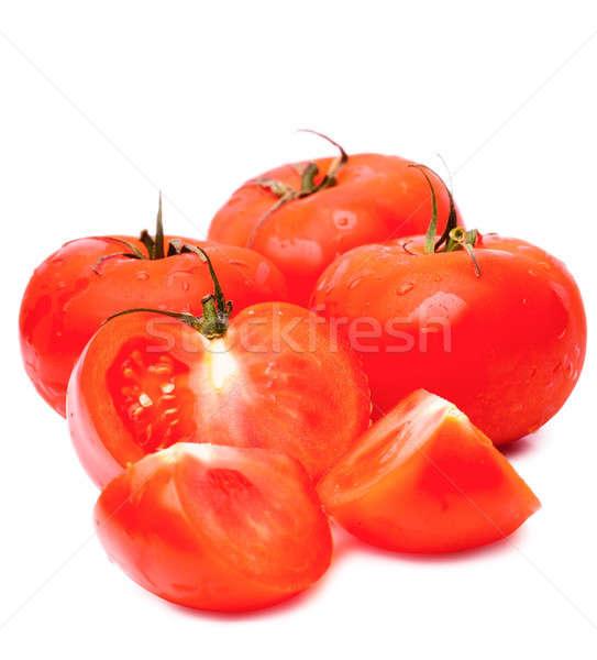 Tomaten geïsoleerd witte voedsel Stockfoto © AGorohov