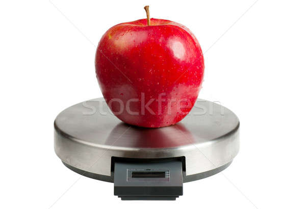 Apple on a scales Stock photo © AGorohov