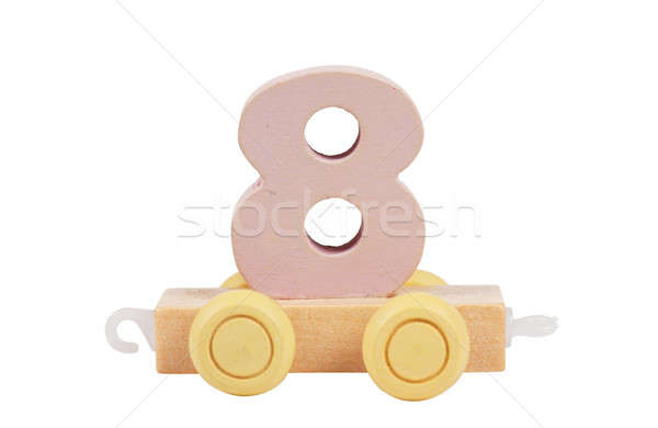 Wooden toy number 8 Stock photo © AGorohov