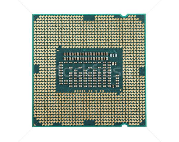 Centraal bewerker eenheid macro microchip Stockfoto © AGorohov