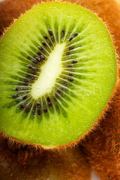 Kiwi fruits macro vue texture nature Photo stock © AGorohov