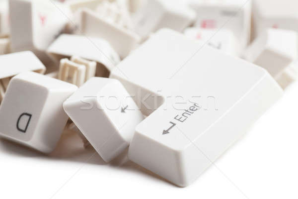 Tas boutons macro vue clavier internet Photo stock © AGorohov