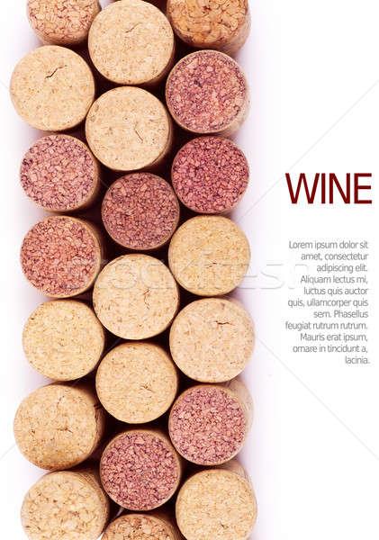 Stok fotoğraf: şarap · üst · görmek · arka · plan · çerçeve