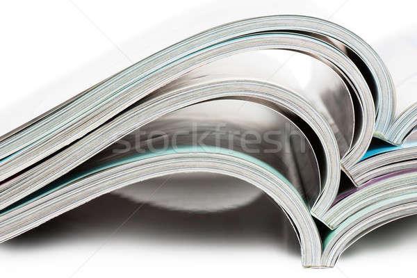 Stockfoto: Tijdschriften · Open · witte · business · papier
