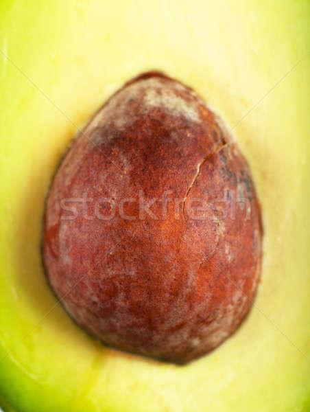 Núcleo aguacate macro vista frescos alimentos Foto stock © AGorohov