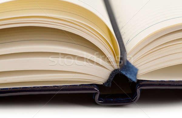 Organizador primer plano vista marcador papel libro Foto stock © AGorohov