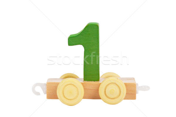 Wooden toy number 1 Stock photo © AGorohov