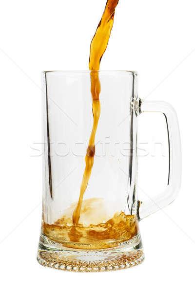 Bier glas geïsoleerd witte partij Stockfoto © AGorohov