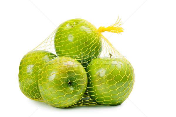 Appels groene witte vruchten vers object Stockfoto © AGorohov