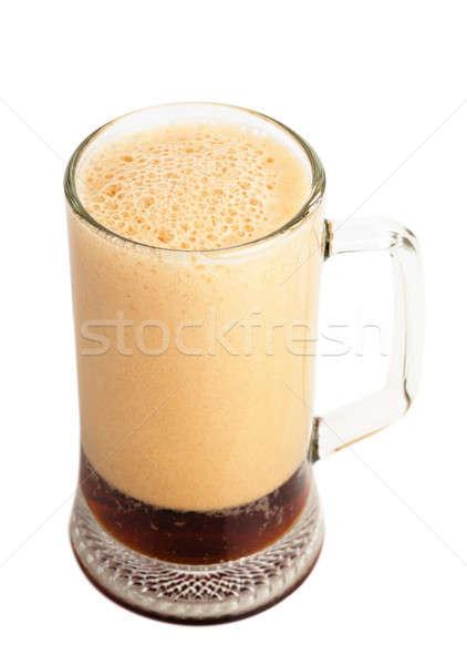 Marrón cerveza inglesa vidrio blanco agua alimentos Foto stock © AGorohov