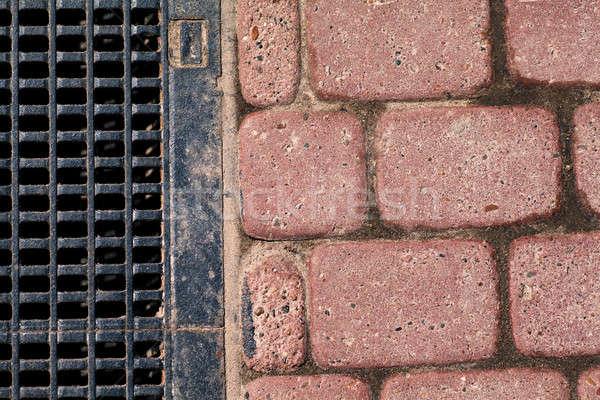 Goot blokken weg textuur stad licht Stockfoto © AGorohov