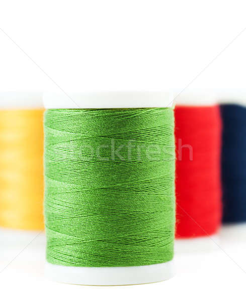 Fio quatro moda metal azul vermelho Foto stock © AGorohov