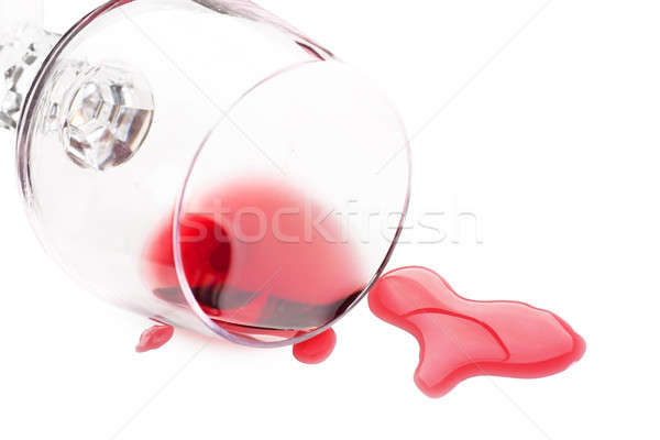 Red wine spilled from glass  Stock photo © AGorohov