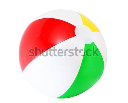 Beachball farbenreich isoliert weiß Kind Hintergrund Stock foto © AGorohov
