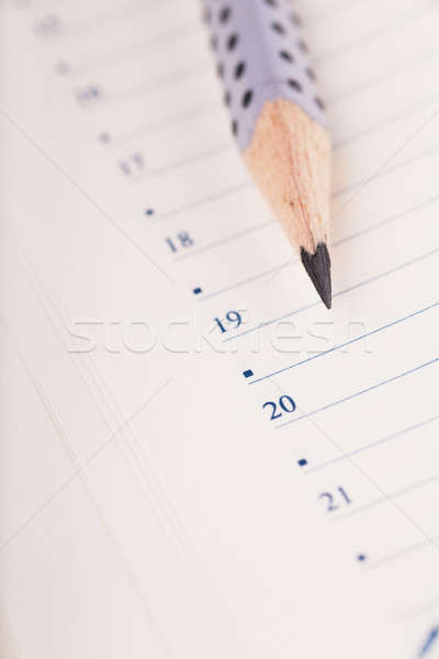 Pencil and organizer Stock photo © AGorohov