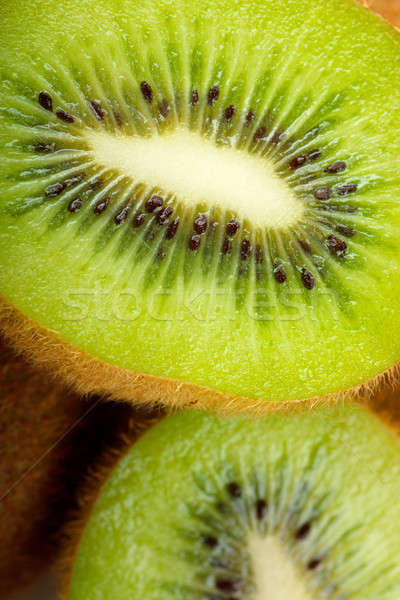 Kiwi vruchten macro textuur natuur Stockfoto © AGorohov