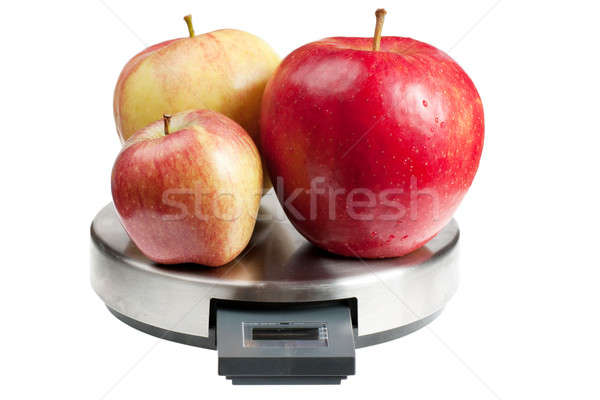 Apples on a scales Stock photo © AGorohov