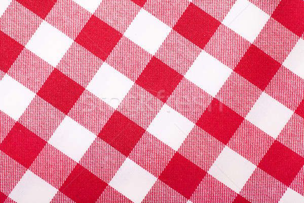 Rouge blanche nappe vue cadre Photo stock © AGorohov