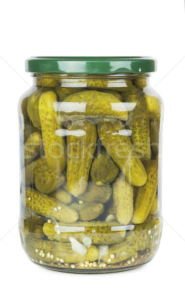 Jar of pickles Stock photo © AGorohov