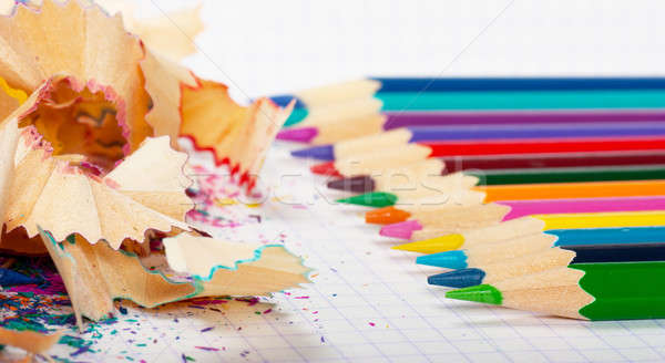 Pencils and peels Stock photo © AGorohov