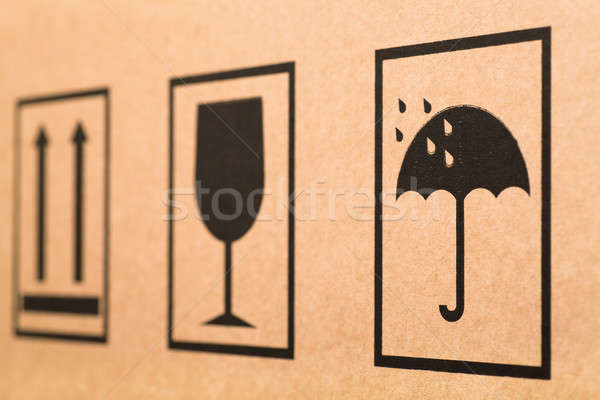 Cardboard signs Stock photo © AGorohov