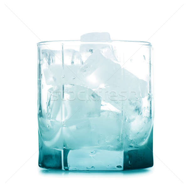 Empty glass with ice Stock photo © AGorohov