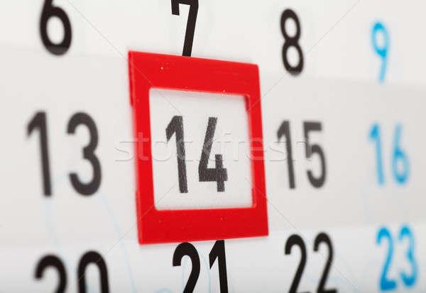Valentijnsdag vel muur kalender Rood Stockfoto © AGorohov