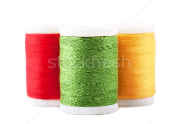 ストックフォト: スレッド · 3 · 緑 · 赤 · 黄色 · ファッション