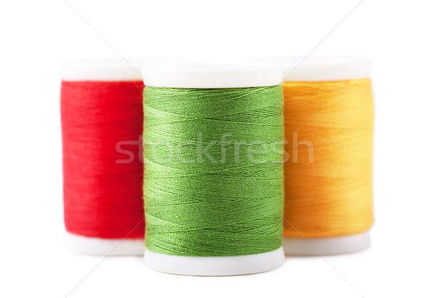 Stockfoto: Draad · drie · groene · Rood · Geel · mode
